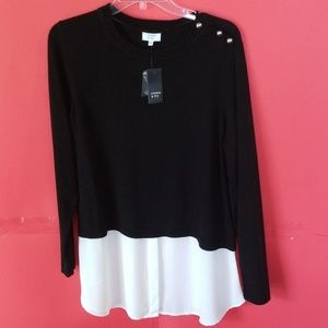NWT Crown & Ivy Sweater/Shirt